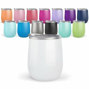 4 pack Bev Steel Stemless Wine Tumbler 12 oz Double Wall Vacuum Insulated $29.99