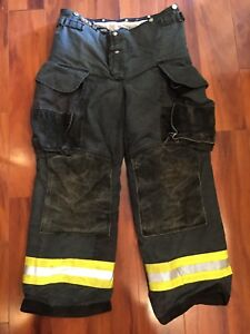 Firefighter Janesville Lion Apparel Turnout Bunker Pants 32x30 Black Costume