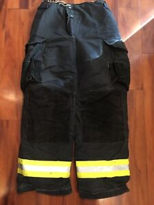 Firefighter Janesville Lion Apparel Turnout Bunker Pants 30x32 Black Costume