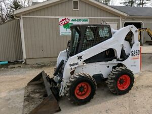 2004 Bobcat S250 Skid Steer Loader Cab Heat ac 1040 Hours
