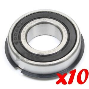 10 X Radial Ball Bearing 6004 2rsnr Light Series 2 Rubber Seals