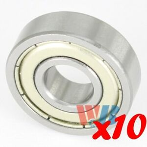 Set Of 10 Miniature Ball Bearing 608 zzemq Metal Shield Electric Motor Quality