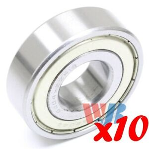 Set Of 10 Radial Ball Bearing 6204 zz 12 With 2 Metal Shields 3 4 Bore