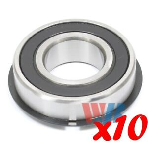 Set Of 10 Radial Ball Bearing 6205 2rsnr With 2 Rubber Seals Retaining Ring