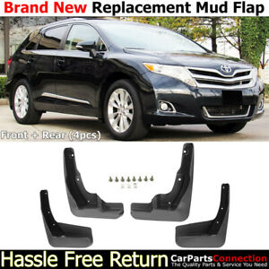 Front Rear Mud Flaps Splash Guards 2009 2016 Toyota Venza Mudguards