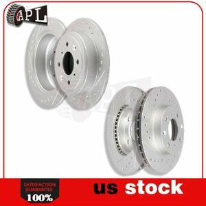 Front Rear Brake Discs Rotors Kit For Honda Civic Del Sol 1993 1994 1995 1997