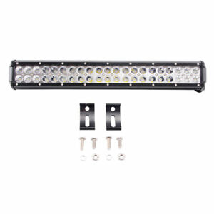 20inch 126w Cree Led Light Bar Flood Spot Work Driving Offroad 4wd Truck