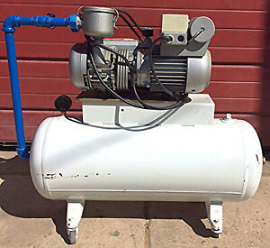 Busch Type Rc0021 8015 Rotary Vane Vacuum Pump Air Compressor System Free Ship