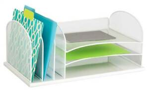 3 horizontal Desk Organizer In White id 3427956
