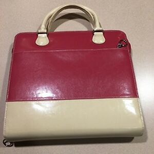 Monarch 1 75 Ring Pink Cream Franklin Covey Planner 8 5x11 Binder Purse Leather
