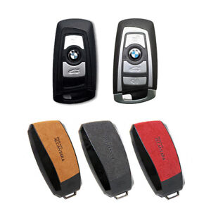 Alcantara Smart Key Cover Holder Case 3 Color For Bmw 2008 2015 7series F01