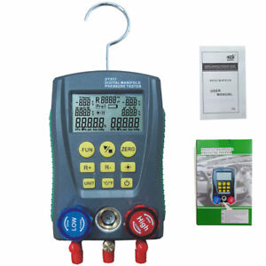 Dy517 Digital Manifold Gauge Refrigeration Pressure Hvac Tester 2 way Valve Kit