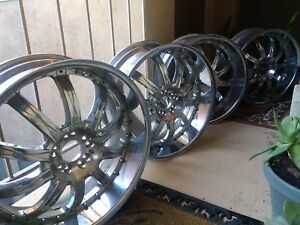 4 24 Inch Borghini B19 Chrome Rims Tires Chevy 1500 Truck Impala Dodge Rd