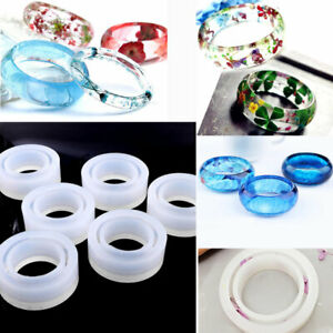 Clear Silicone Round Mold Casting Resin Mould Bangle Bracelet Jewelry Tool US
