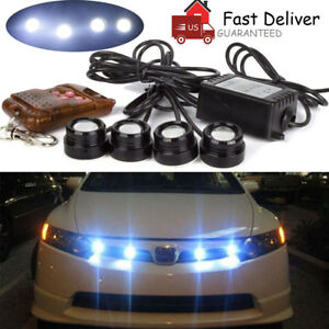 Car Hawkeye Led Emergency Strobe Lights Drl 4 In 1 Brake Light With Remote 12v