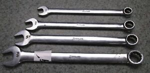 Snap On 4 Piece 12point Standard Combination Wrench Set Oex12 14 16 18