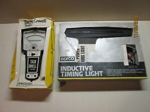 Vintage Dixco 1501 Tach Dwell Tester Dixco 418 Inductive Timing Light Usa 2pcs