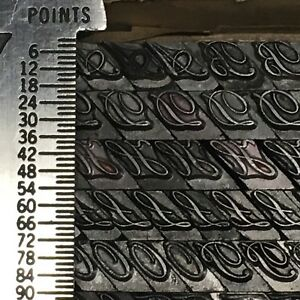 Typo Script Extended 18 Pt Letterpress Type Vintage Printer s Lead Metal