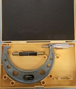 Mitutoyo Outside Micrometer 4 5 Ratchet 0001 W Carbide Tips