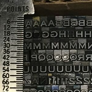 Copperplate Gothic Heavy 812 pt - Letterpress Type - Printer's Lead Metal