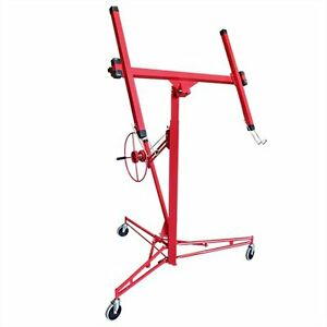 Drywall 11 Lift Panel Hoist Wall Jack Lifter Construction Tools Large Red