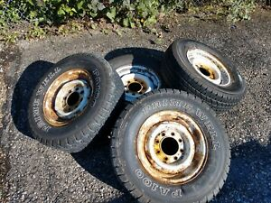 86 Gm Chevy Pick Up Truck 8 Lug 16 Wheels Tires Hub Caps And Nuts