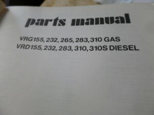 Waukesha Vrg155 232 265 283 310 Vrd155 232 283 310 310s Engine Parts Manual