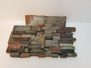 Lot Of 50 Antique Vintage Printers Block Letterpress Die Stamps Fredericksburg