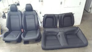 2018 Ford Mustang Gt Black Leather Seats Front back Heated cooled Oem