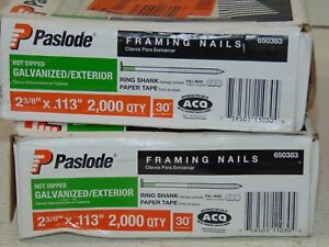 2 Box Lot 3800 Paslode Framing Nails 2 3 8 In X 0 113 Corrosion Resistant
