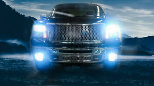 4x Ice Blue Hi lo Beam Led Headlight Bulbs For 2007 2013 Gmc Sierra 1500 2500
