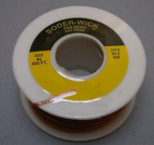 500 Feet Soder wick Rosin 50 2 Full Roll Of Desoldering De solder Braid