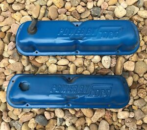Early Bronco Ford 302 Original Valve Covers Blasted Painted Power By Ford