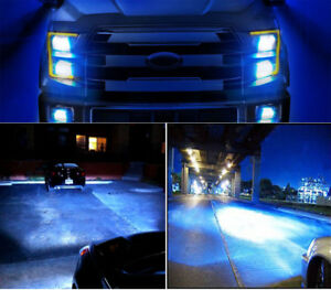 4pc 9005 h11 Ice Blue High Low Beam Led Headlight Bulbs For Ford F 150 2015 2017