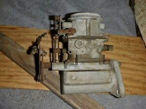 Bendix Stromberg Carburator Model Ww 2367348 380499 With Shorty Manifold