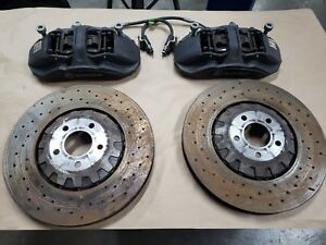 2016 2017 2018 Mustang Gt350 Front Brake Pair Calipers 15 Inch Rotors Brembo