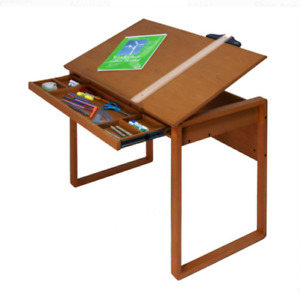 Drafting Table Adjustable Wood Top 30 Degrees Tilt For Architects Art Designers