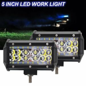 2x 5 Inch 84 W Led Off Road Work Light Bar Spot Beam Driving Fog Lights Lamps