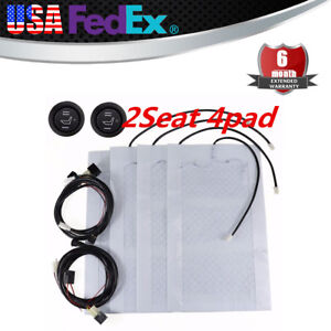 Car Seat Heater Kit Carbon Fiber Heated Cushion Warmer Pad High Low Temperature