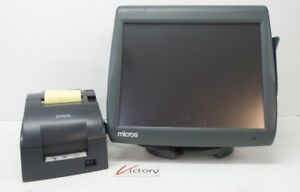 Used Micros Workstation 5 System Unit 400814 001 W Stand Pos Printer V 02