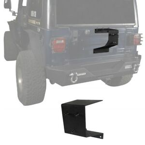 Textured Black Steel Single Spare Tire Carrier Fit Jeep Wrangler Tj 1997 2006