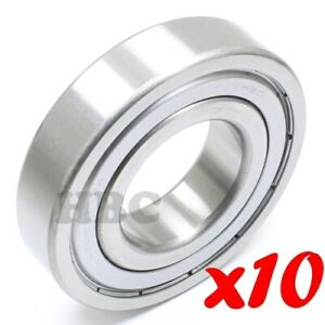 10 X Radial Ball Bearing Hbc 6208 zz 24 With 2 Metal Shields 1 1 2 Id Light Oil