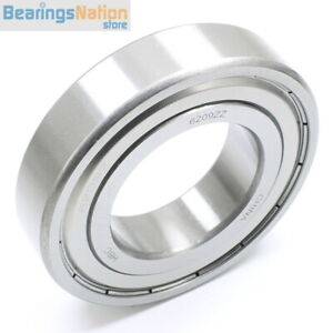 Radial Ball Bearing 6209 zz With 2 Metal Shields 45x85x19mm