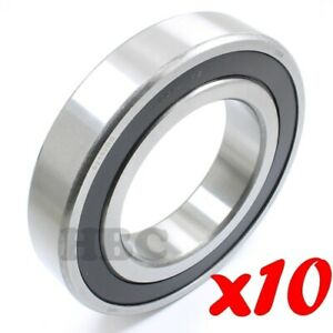 Set Of 10 Radial Ball Bearing 6215 2rs With 2 Rubber Seals