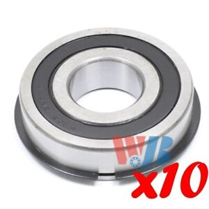 10x Radial Ball Bearing 6306 2rsnr Medium Series 2 Rubber Seals