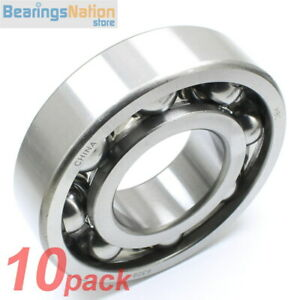 Set Of 10 Radial Ball Bearing 6309 Open Medium Series Light Oil