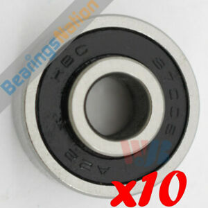 Set Of 10 Radial Ball Bearing 87008 With 1 Felt Seal 1 Metal Shield