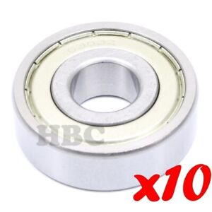 Set Of 10 Stainless Steel Radial Ball Bearing Hbc S6303 zz With 2 Metal Shields