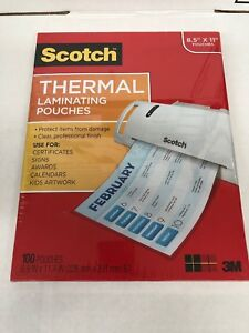 5 scotch Thermal Laminating Pouches 8 9 X 11 4 3 Mil Thick 500 pack Tp3854