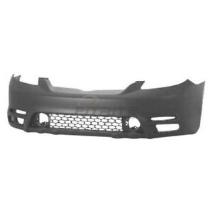 New Front Bumper Cover Primed For 2003 2004 Toyota Matrix To1000236
